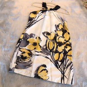 Vince Yellow Floral Silk Dress- Size 8
